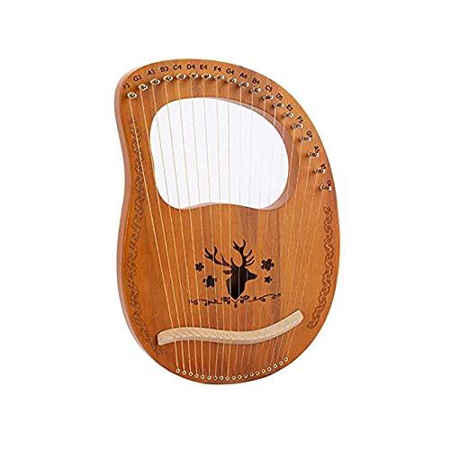 1個 19弦 木製竪琴 ライアーハープ マホガニー製 弦楽器 初心者向け トナカイリラハープセット配達6〜150労働日まで 配達3〜5労働日まで