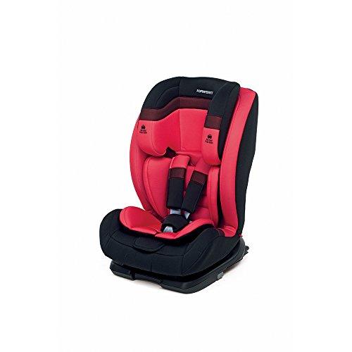 Foppapedretti Re klino Fix, Silla de coche grupo 1/2/3, Rojo