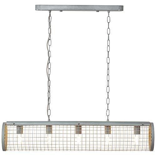 Brilliant Net hanglamp 103x20cm, metaal, 60 W, grijs beton