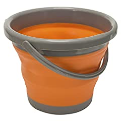 """DIMENSIONS: 7.75"""" H x 10"""" W (expanded), 2"""" H x 10"""" W (collapsed), 1.3 gallon capacity (5 liter) and weighs 12.6 oz VERSATILITY: Can be used for watering bowls for pets, as the perfect food bowl or as a hauler tub for firewood, sticks, water, supplies..."""
