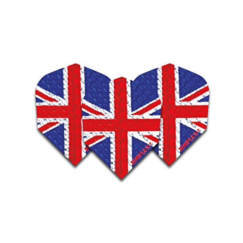 F6033 Union Jack Flagge Dimplex Dart Flights 4 Sets pro Pack (12 Flights insgesamt)