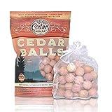 Cedar Sense - Cedar Balls - 60 Pack - Cedar Blocks for Clothes Storage - Cedar for Closets - Closet Freshener - Cedar for Hangers - Cedar Closet Freshener