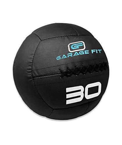 Garage Fit Wall Ball  Soft Medicine Balls  Wall Balls  4 6 8 10 12 14 16 18 20 25 and 30 Lbs  18 27 36 45 55 64 73 82 91 113 and 136kg 30 lb Black Ballistic Ball