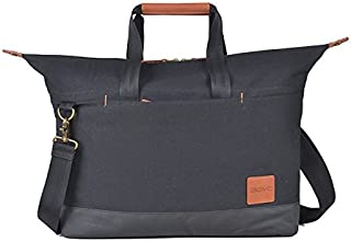 "Agva 15.6"" Urban Modern Black Overnight Travel Laptop Bag"