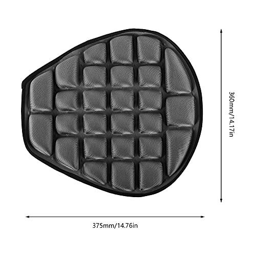 CojíN De Asiento De Moto Almohadilla de aire motocicleta fresco asiento cubierta asador protector solar estera eléctrica coche inflable descompresión oficina cojín de aire (Color : GRAY)