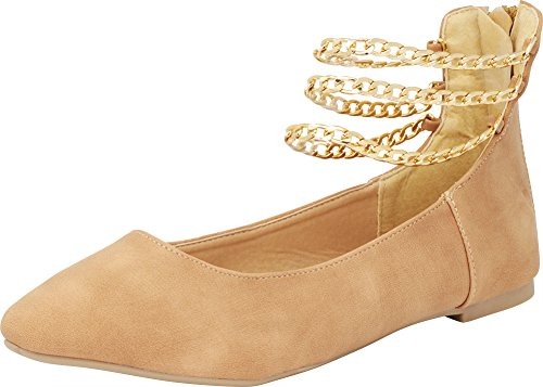 Top 10 best selling list for flat shoes with chain strap