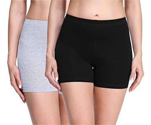 Merry Style Culote de Ciclismo Mallas Cortas Leggins Mujer 2Pack MS10-283(2Pack Negro/Melange,XS)