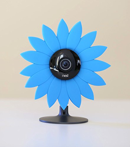 Hide-Your-Cam Nest Cam Security Camera Camouflage Blue Sun Flower Cover Skin Case Disguise Protection Decoration Also Fits on Yi Home Cam