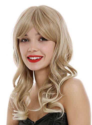 comprar pelucas mujer pelo natural rubio platino rizado on line