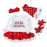 cover Mein Erstes Weihnachten Baby Kleidung Mädchen Babystrampler Tutü Rock Socken Haarband Neugeborenes Babykleidung