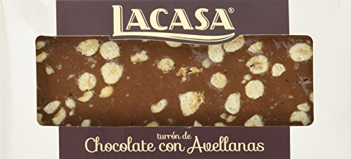 Lacasa Chocolate con Avellanas Turrón - 250 gr