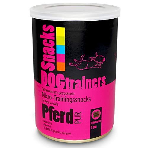 Schecker DOGTRAINERS Pferd PUR 3 x 110g getreidefrei glutenfrei als Barf-Ergänzung geeignet 100% Pferd Single Protein