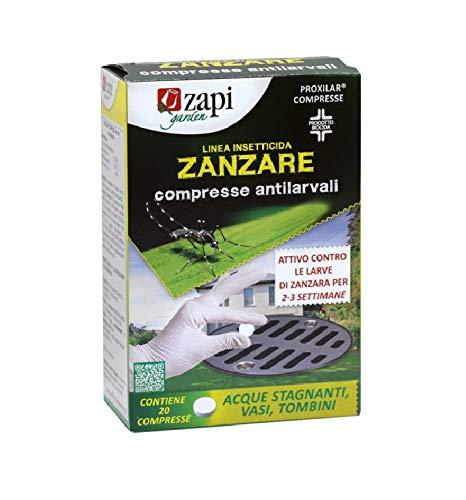 ZAPI 20 Compresse Antizanzare Antilarvali Acque Stagnanti Vasi Tombini