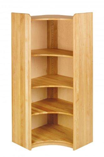 BioKinder 22221 Lara Regal Bücherregal Ecklösung aus Massivholz Erle 160 x 70 cm