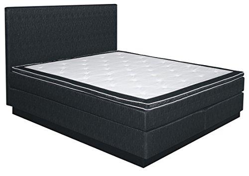 Komplettset Boxspringbett NAURU, Box: Bonell - Federkern, Matratze: Taschen - Federkern, Top Matress: Schaumstoff - Abmessung: 160 x 200 cm