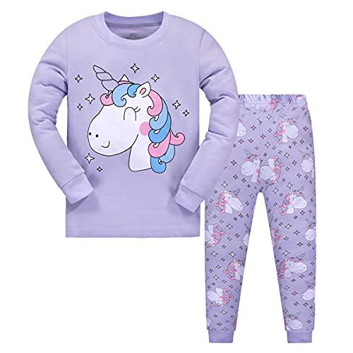 Garsumiss Pijamas para Niña Dos Piezas de Unicornio Manga Larga Invierno Pijama 2-12 Años, Estilo...