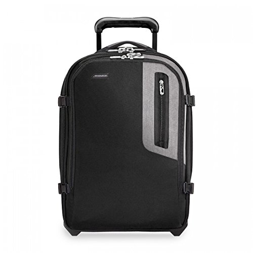 New Briggs & Riley BRX-Explore Softside Expandable Carry-On Upright Luggage, Black, 20-Inch