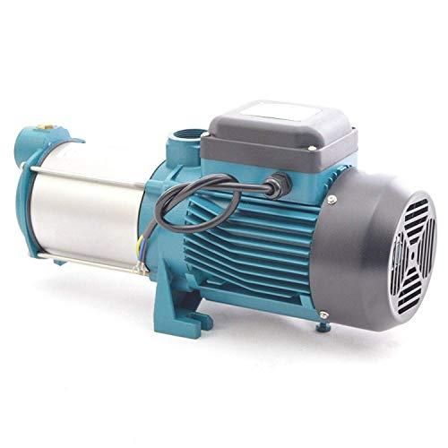 IBO / CHM Gartenpumpe Kreiselpumpe MHI2200 INOX + Druckschalter mit Manometer - Leistung: 2200W - Spannung: 230 V / 50 Hz 10800 L/h - 180l/min. Max. Druck 6 bar. Laufräder aus Edelstahl. - 6