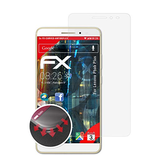 atFolix Schutzfolie kompatibel mit Lenovo Phab Plus Folie, entspiegelnde & Flexible FX Bildschirmschutzfolie (3X)