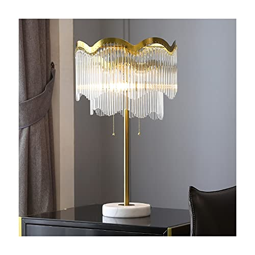 Lámpara de Escritorio Lámpara de mesa nórdica cálida cama de cama marmol cristal cristal decoración creativa lámpara lámpara dormitorio sala de estar camioneta interruptor lámpara de iluminación Lámpa