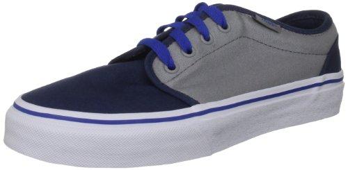 Vans 106 Vulcanized - Zapatillas de lona para niña, azul - Dress Blues/Mid Grey, 11.5 UK Child