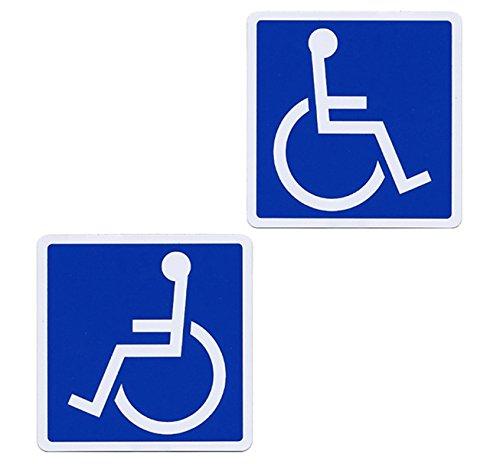 SSC 車椅子 マグネットステッカー 身障者用設備・障害者用設備 車いす 車イス 車両等への貼付/標識/マークとして最適 防水・耐水 屋外での使用も可 障害者スペースへの駐車等に 右向き・左向き2枚セット/110×110mm qb600029c02n0