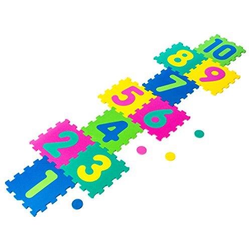 Betoys934740468–Alfombra de goma espuma tipo rayuela de 10piezas , color/modelo surtido