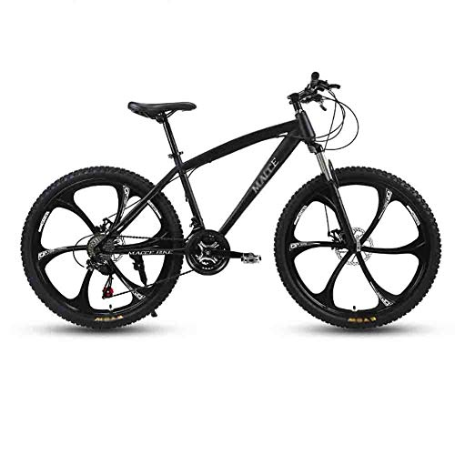 SOAR Mountain Bike Bici Adulta Mountain Bike MTB Strada Biciclette for Uomini e Donne 26in Ruote Regolabile velocità Doppio Freno a Disco (Color : Black, Size : 27 Speed)
