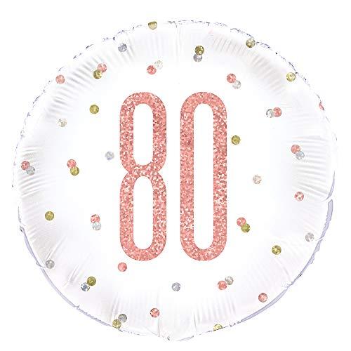 Unieke partij 56450 Ballonnen Folie Ballon Age 80 Rosegoud