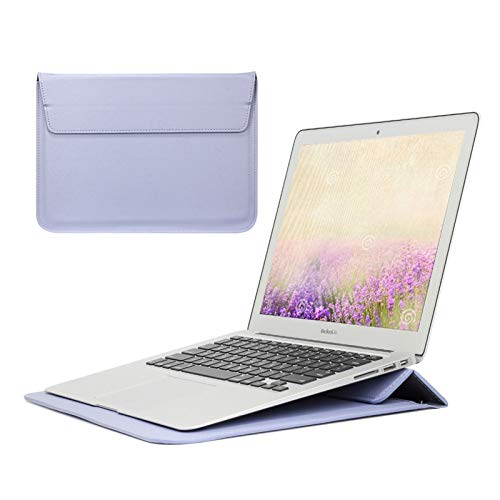 WSY Stand Cover For Apple Macbook Air 13 Pro 16 12 11 15 Laptop Case For Mac Pro 13 Case M1 A2338 A2337 A1932 Sleeve Bag (Color : Purple, Size : 2019 Pro 16 A2141)