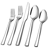 60-Piece Silverware Set, E-far Stainless Steel Flatware Set Service for 12, Tableware Cutlery Set for Home...