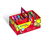 Giotto 28609 Lot de 36 Crayons Couleur Bébé Mine Taillage Facile Diamètre 7 mm 105 mm Vifs