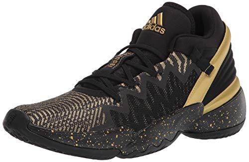 adidas Unisex D.O.N. Issue 2 Basketball Shoes, Black/Gold Metallic/White, 11 US Men