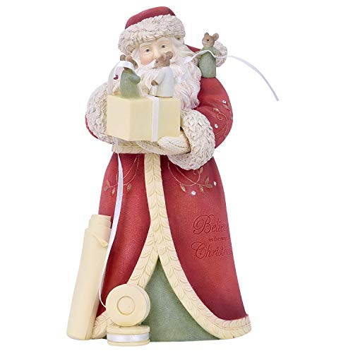 Enesco Heart of Christmas a Perfect Bow Santa Figurine, 7.95 Inch, Multicolor