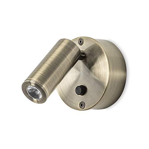 LEDs-C4 05-2706 E4-E4-ivy applique 1xled cree led 1w patiné