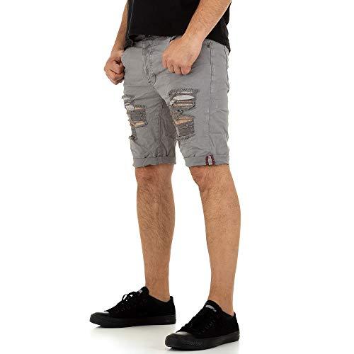 Ital Design Destroyed Jeans Shorts Justing Denim Gr. 30 Grau