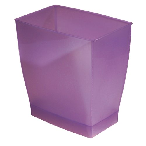 iDesign Spa Rectangular Trash, Waste Basket Garbage Can for Bathroom, Bedroom, Home Office, Dorm, College, 2.5 Gallon, Chianti