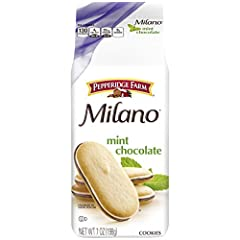 Box of 3, 7.5 ounce bags, perfect for stocking your pantry Luxuriously rich mint chocolate sandwiched between 2 crisp, exquisite cookies Mint Chocolate flavor Baked with no artificial flavors or preservatives About 8 servings per bag, about 24 servin...