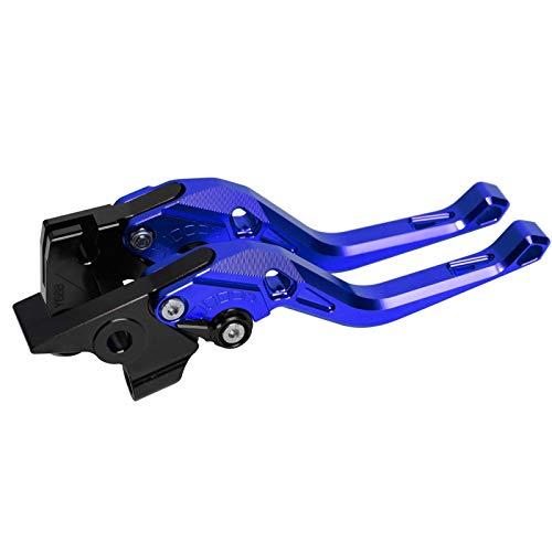 Kupplungshebel Bremsgriff Kurze Rhombus-Kupplungsbremshebel/Fit für Yamaha yzf600r Thundercat 1996-2007 (Color : Blue)