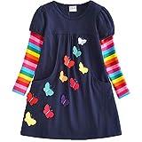 VIKITA Toddler Girls Dresses Long Sleeve Girl Dress for Kids 3-8 Years LH5805, 5T