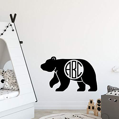BailongXiao Orso Moderno Decorazione per la casa Accessori Soggiorno Camera da Letto Wall Art Decal 22x21cm