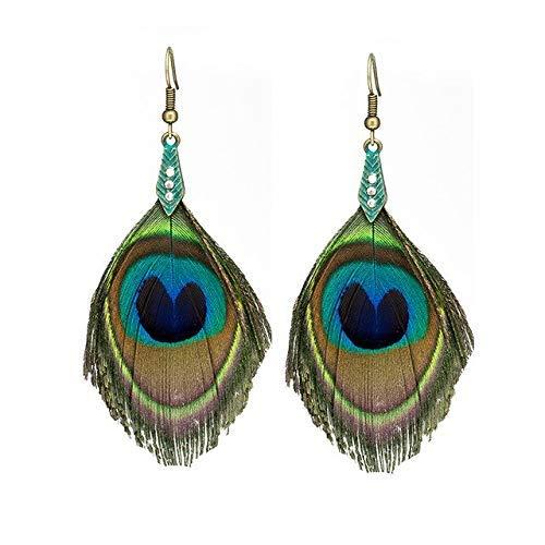 MUMUMI Ear Studs,Ethnic Large Dangling Drop Earrings for Women Female Charm Suspension Earrings Hanging Jewelry Accessories,Fuya-E020206