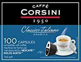 Corsini Caffè - Classico Italiano Miscela di Caffè in Capsule Compatibili Nescafè Dolce...
