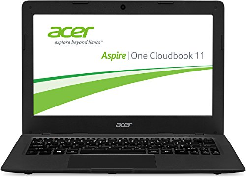 Acer Aspire One 11 (AO1-131-C58K) 29,46 cm (11,6 Zoll HD) Laptop (Intel Celeron N3050, 2GB RAM, 32GB eMMC, Intel HD Graphics, Win 10 Home) mineral- dunkel grau