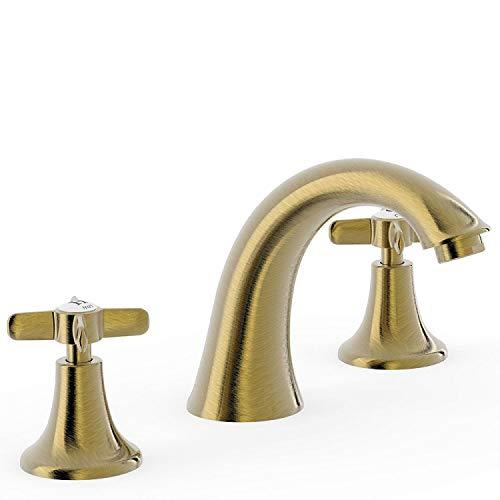 Bimando lavabo Tres-Clasic Color, instalación libre, volante, 13,4 x 25 x 12 centímetros, color latón viejo (Referencia: 24210601LV)
