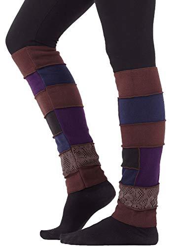 PUREWONDER Damen Beinstulpen aus Fleece Beinwärmer Modell Nr. 1 Farbe Braun