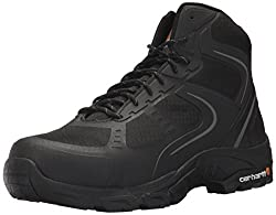 Carhartt Men's Lightweight Hiker 6-Inch Black FastDry Technology- Steel Toe