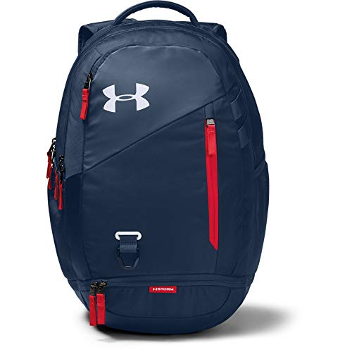 Under Armour Hustle 4.0 Backpack, Academy (409)/White, One Size Fits All