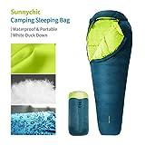 Sunnychic Camping Sleeping Bag, Mummy Sleeping Bag with Compression Sack - 3 Seasons