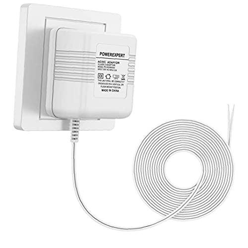 Video Doorbell Transformer 24V 500mA Wire Transformer Adapter with 8M Charging Cable